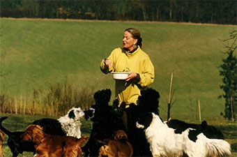 Verena mit Ihre Hunde
